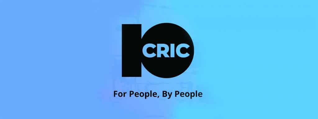 10cric logo on blue background